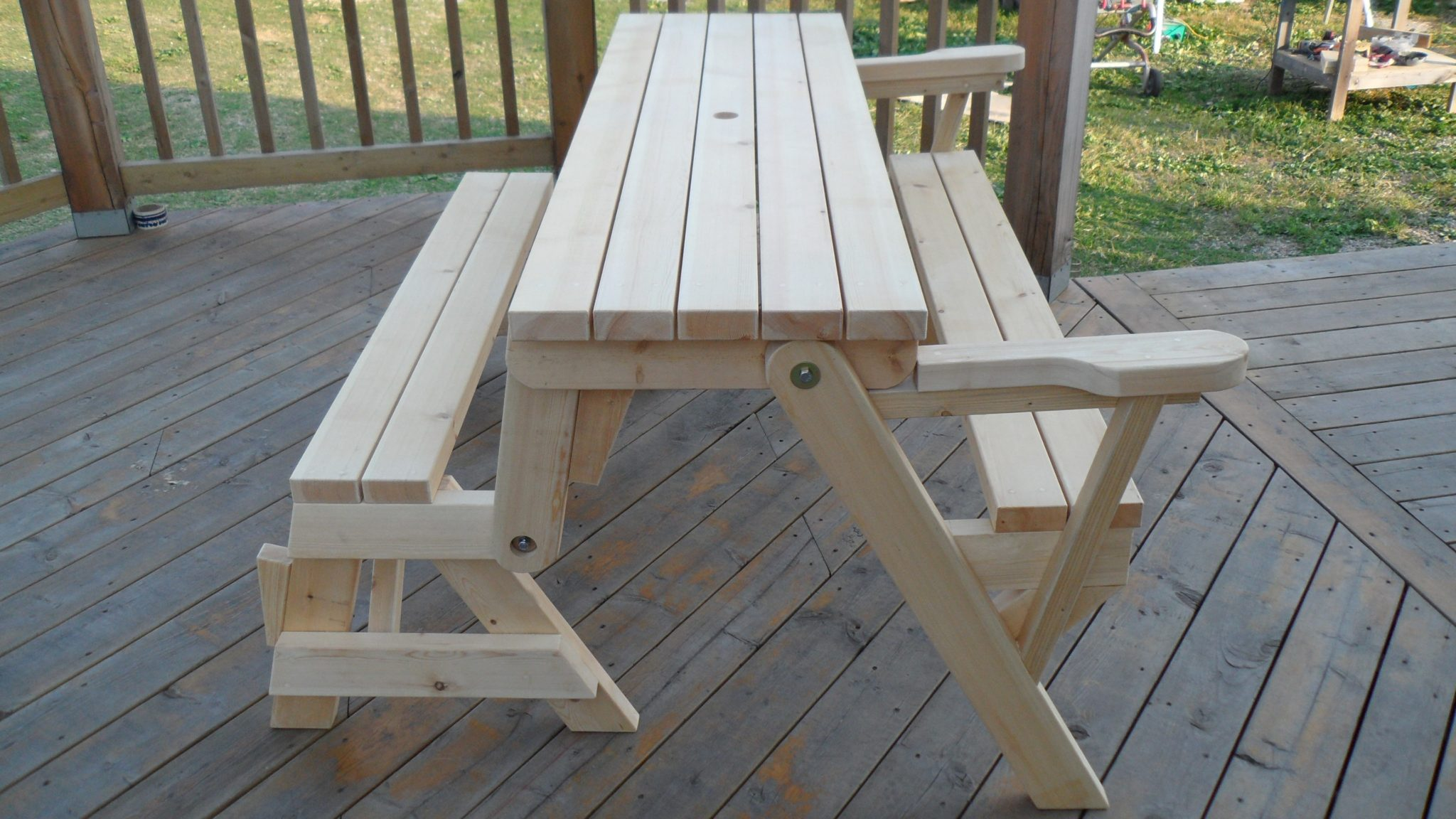 - Folding Picnic Table To Bench Instructions. Click On The Picture