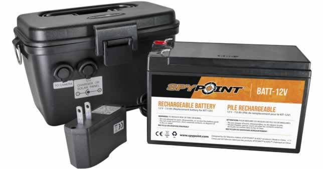 Spypoint 12V Battery, Charger & Housing Kit